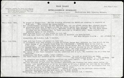 UK Brigade War Diary